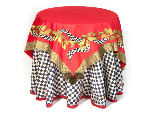 Mackenzie Childs 90 Quot Round Courtly Check Tablecloth Table