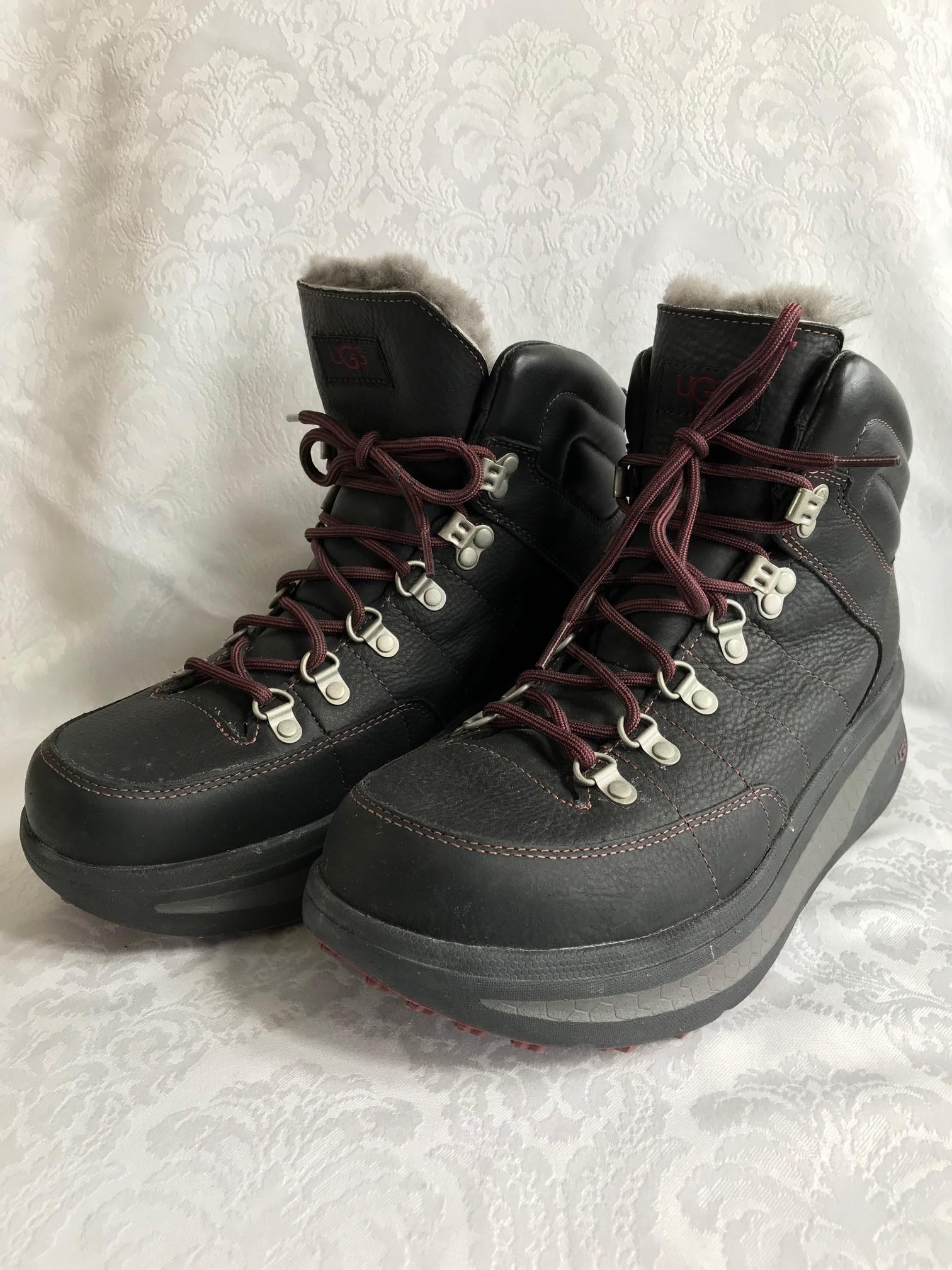 Ugg-Mens-Rain-Snow-Boot-WATERPROOF-w-Thinsulate-Shoes-US-11-Gray-Sheepskin-Exc